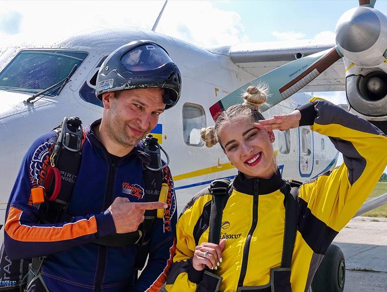 Прыжок с парашютом в Киеве на Аэродроме Чайка