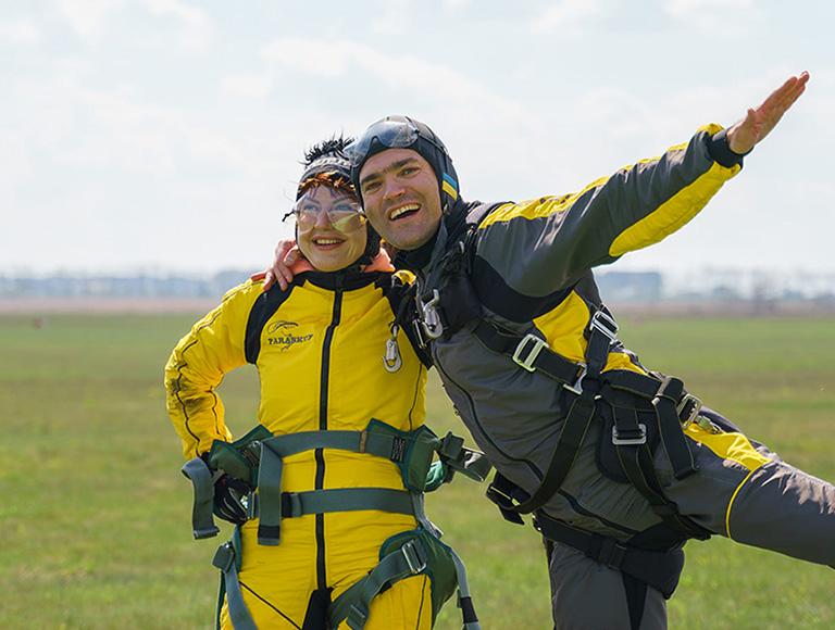Прыжок с парашютом Киев